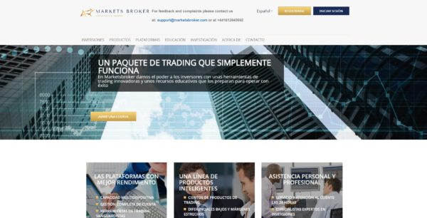 markets broker web